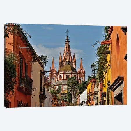 San Miguel De Allende, Mexico. Ornate Parroquia de San Miguel Archangel. Canvas Print #DGU112} by Darrell Gulin Canvas Art