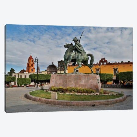 San Miguel De Allende, Mexico. Plaza Civica and Statue of General Allende Canvas Print #DGU113} by Darrell Gulin Canvas Wall Art