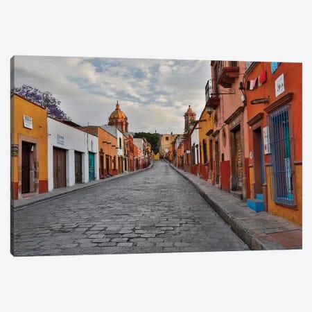 San Miguel De Allende, Mexico. Street scene Canvas Print #DGU114} by Darrell Gulin Art Print