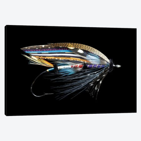 Atlantic Salmon Fly designs. 'Fleming' Canvas Print #DGU171} by Darrell Gulin Canvas Artwork