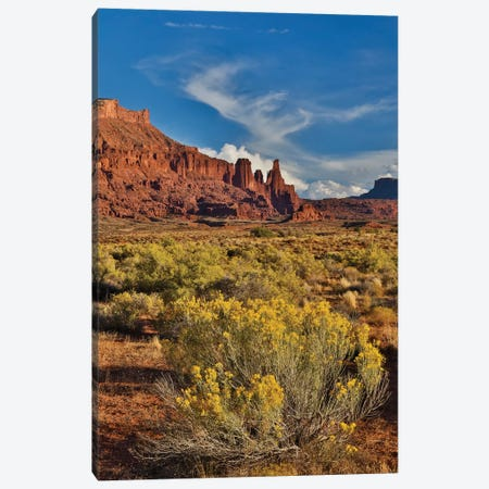 Fisher Towers, Utah in evening light Canvas Print #DGU63} by Darrell Gulin Art Print