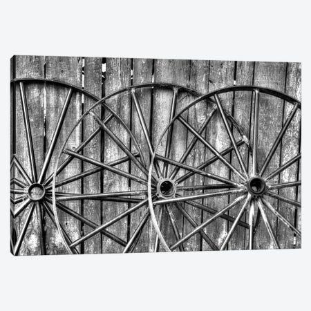 Wooden fence and old wagon wheels, Charleston, South Carolina Canvas Print #DGU69} by Darrell Gulin Canvas Art Print