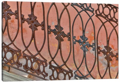 Guanajuato in Central Mexico. Buildings with fancy ironwork Canvas Art Print