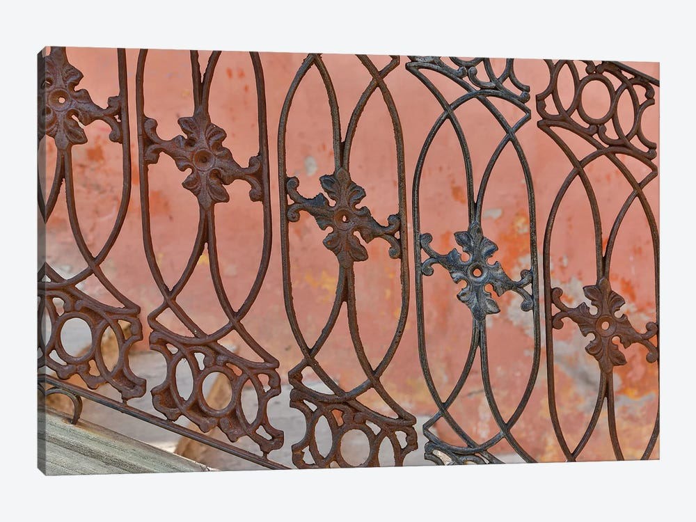 Guanajuato in Central Mexico. Buildings with fancy ironwork by Darrell Gulin 1-piece Canvas Art Print
