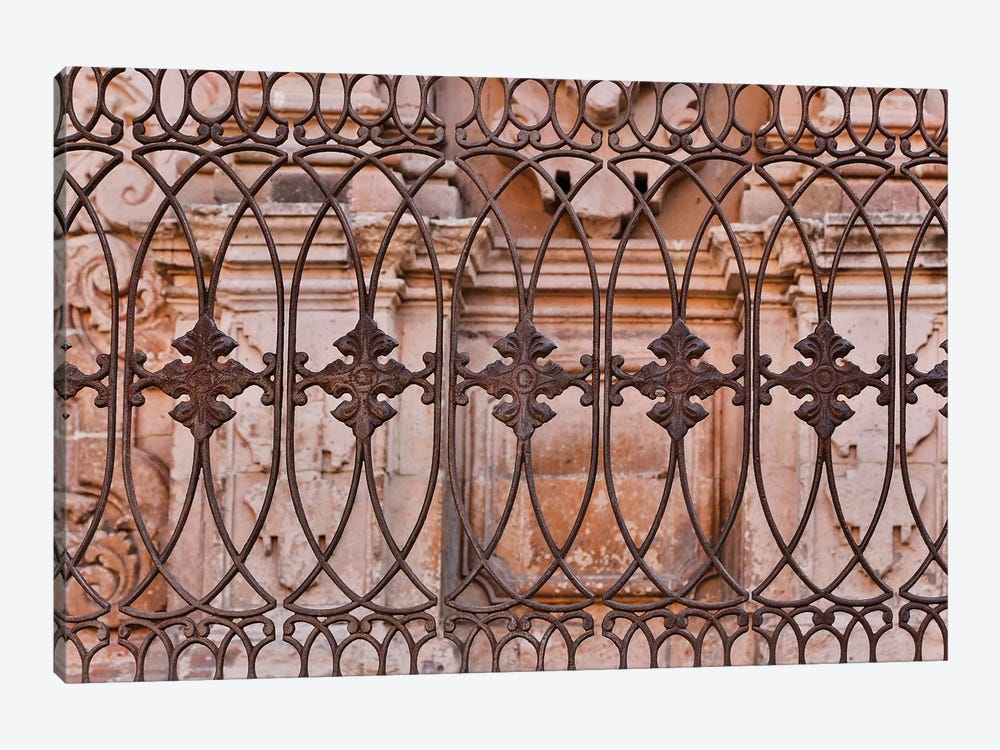 Guanajuato in Central Mexico. Buildings with fancy ironwork 1-piece Canvas Art