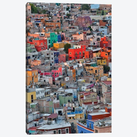 Guanajuato in Central Mexico. City overview in evening light with colorful buildings Canvas Print #DGU75} by Darrell Gulin Canvas Print