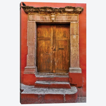 Guanajuato in Central Mexico. Colorful doorways Canvas Print #DGU78} by Darrell Gulin Canvas Art