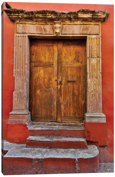 Guanajuato in Central Mexico. Colorful doorways Canvas Art Print