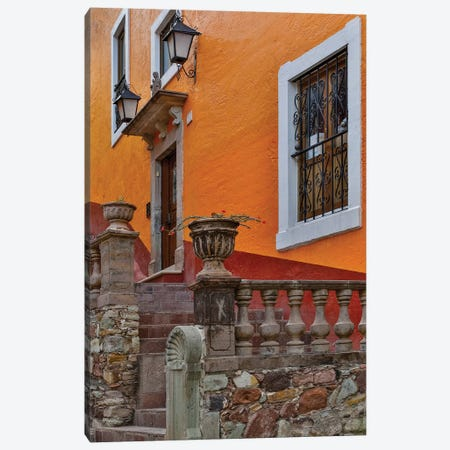Guanajuato in Central Mexico. Old colonial architecture and stairways Canvas Print #DGU79} by Darrell Gulin Canvas Wall Art