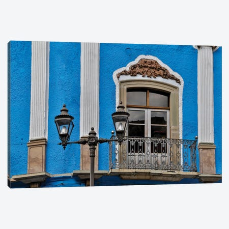 Guanajuato in Central Mexico. Old colonial building with balcony Canvas Print #DGU80} by Darrell Gulin Canvas Art Print
