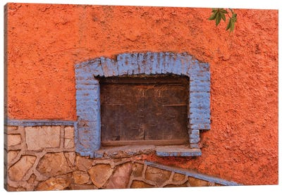Guanajuato in Central Mexico. Old shuttered window Canvas Art Print