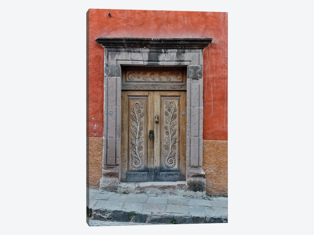 San Miguel De Allende, Mexico. Colorful buildings and doorways 1-piece Canvas Print