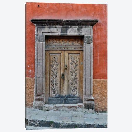 San Miguel De Allende, Mexico. Colorful buildings and doorways Canvas Print #DGU85} by Darrell Gulin Canvas Art
