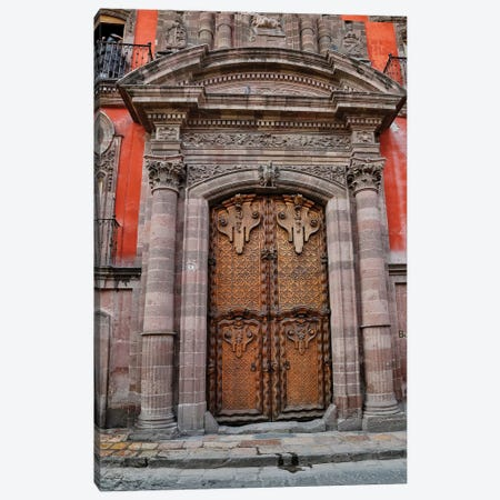 San Miguel De Allende, Mexico. Colorful buildings and doorways Canvas Print #DGU87} by Darrell Gulin Canvas Wall Art