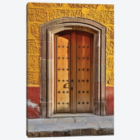 San Miguel De Allende, Mexico. Colorful buildings and doorways Canvas Print #DGU88} by Darrell Gulin Canvas Print