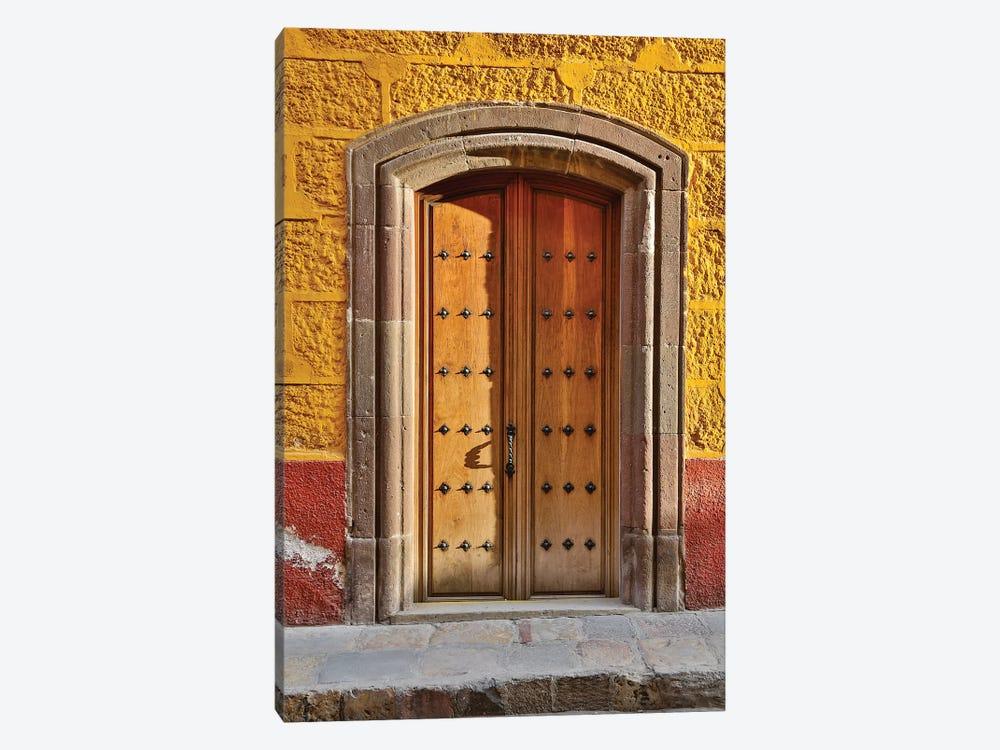 San Miguel De Allende, Mexico. Colorful buildings and doorways by Darrell Gulin 1-piece Canvas Art
