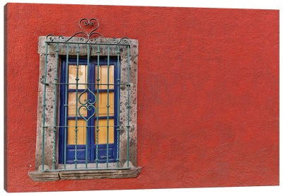 San Miguel De Allende, Mexico. Colorful buildings and windows Canvas Art Print