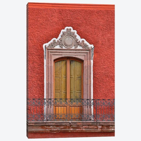 San Miguel De Allende, Mexico. Colorful buildings and windows Canvas Print #DGU91} by Darrell Gulin Canvas Artwork