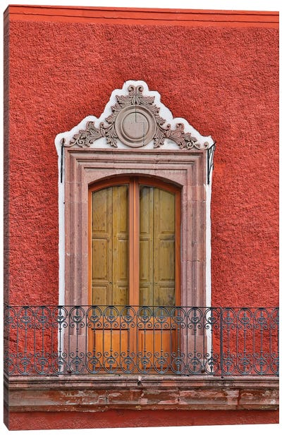 San Miguel De Allende, Mexico. Colorful buildings and windows Canvas Art Print