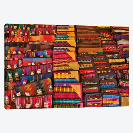 San Miguel De Allende, Mexico. Colorful cloth on display for sale 3-Piece Canvas #DGU95} by Darrell Gulin Canvas Art Print