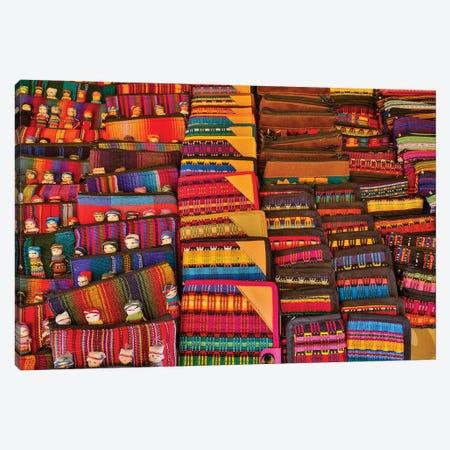 San Miguel De Allende, Mexico. Colorful cloth on display for sale Canvas Print #DGU95} by Darrell Gulin Canvas Art Print