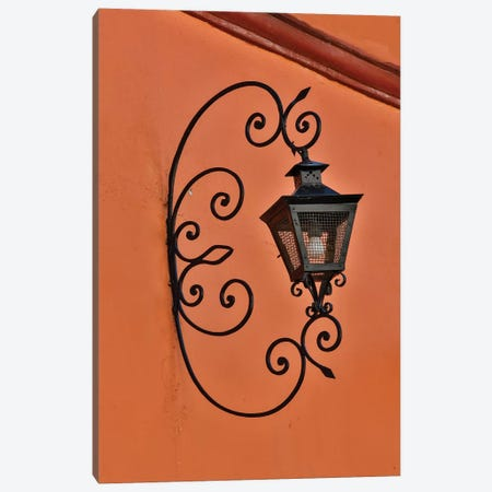 San Miguel De Allende, Mexico. Lantern and shadow on colorful buildings Canvas Print #DGU99} by Darrell Gulin Canvas Art