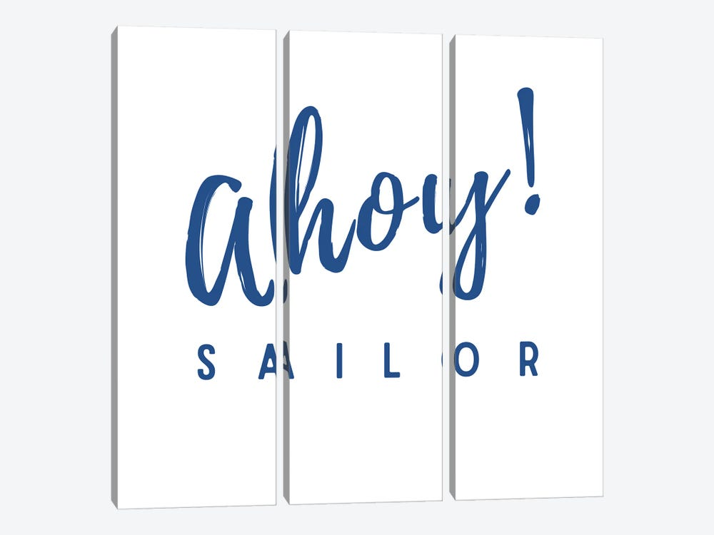 Nautical And Navy Ahoy! Sailor by Design Harvest 3-piece Art Print