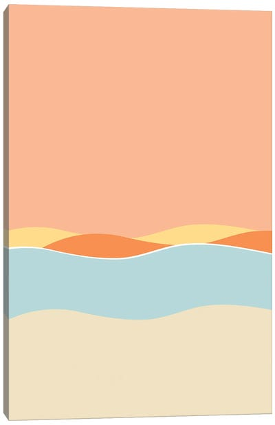 Sunset By The Sea Canvas Art Print