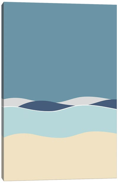 Night By The Sea Canvas Art Print