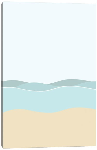 Day By The Sea Canvas Art Print
