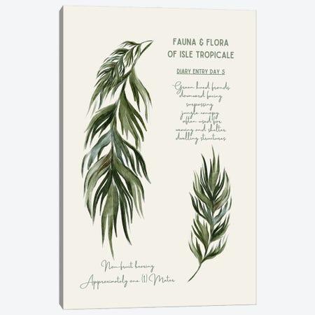 Safari Series - Vintage Botanical Palms Canvas Print #DHV197} by Design Harvest Canvas Art