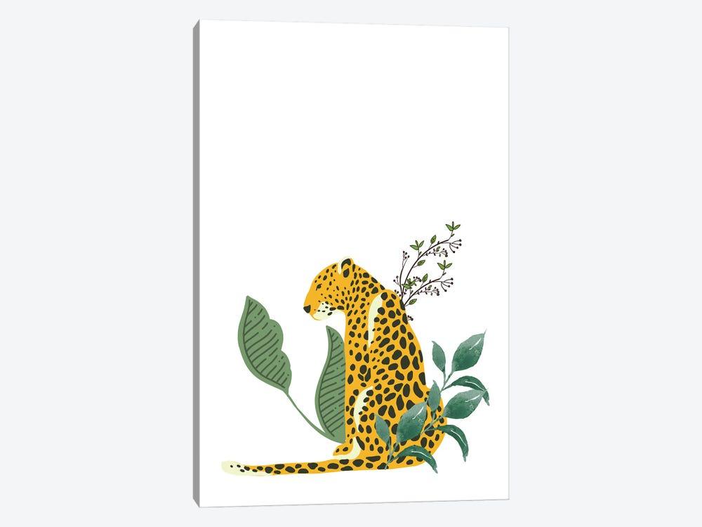 Vintage Leopard Hiding In Leaves by Design Harvest 1-piece Canvas Art