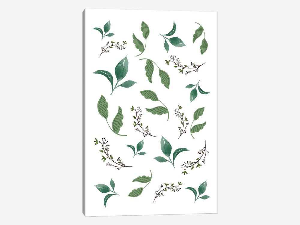 Jungle Leaves And Botanical Pattern by Design Harvest 1-piece Canvas Wall Art