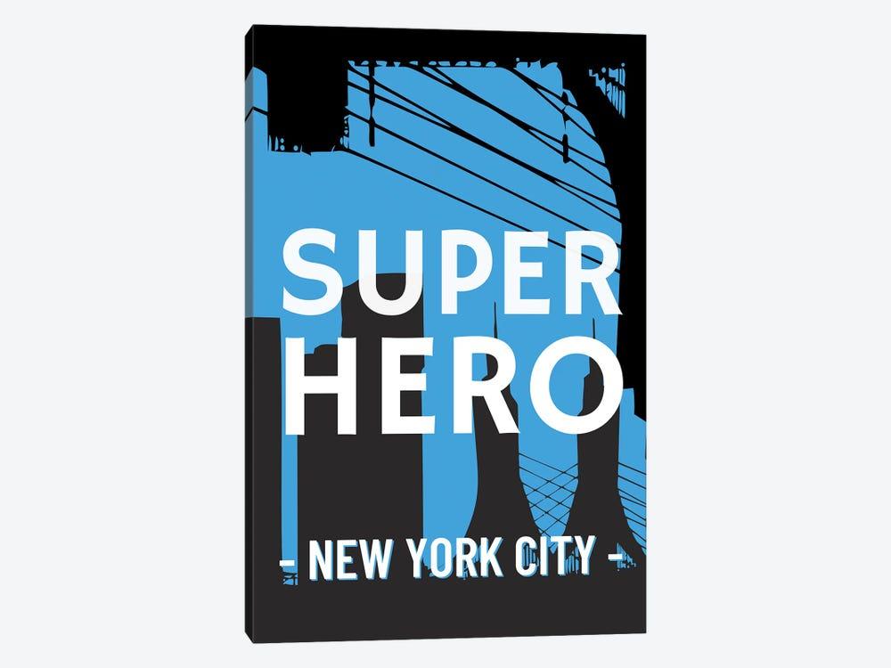 Superhero New York City Comic by Design Harvest 1-piece Art Print