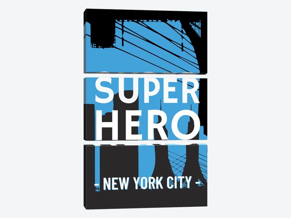 Superhero New York City Comic by Design Harvest 3-piece Canvas Art Print