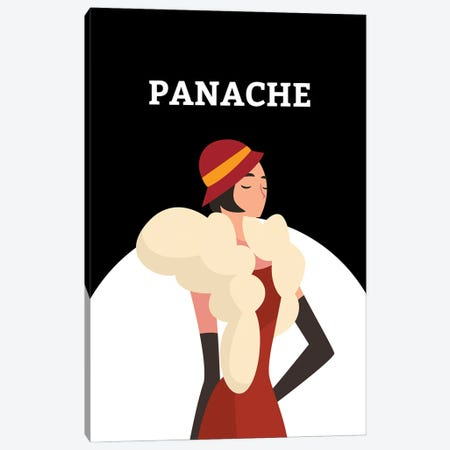 Art Deco Panache With Gatsby Flapper Girl Canvas Print #DHV36} by Design Harvest Canvas Art