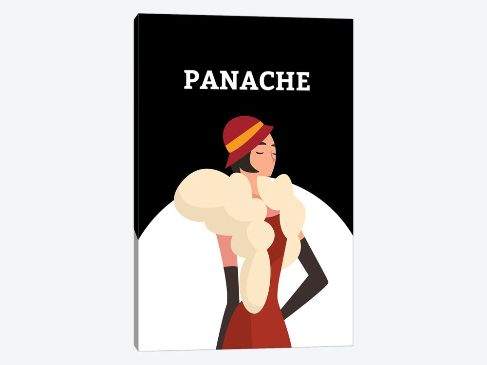 Art Deco Panache With Gatsby Flapper Girl by Design Harvest 1-piece Canvas Art