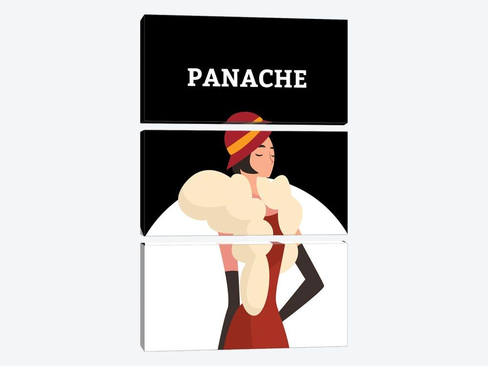 Art Deco Panache With Gatsby Flapper Girl by Design Harvest 3-piece Canvas Artwork