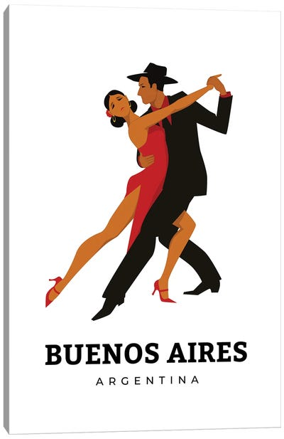 Art Deco Tango Dances Of Buenos Aires Argentina Canvas Art Print