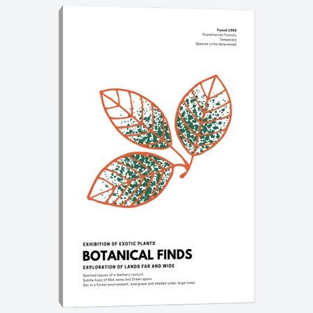 Botanical Finds Gallery Poster Scandinavian Canvas Print #DHV3} by Design Harvest Art Print