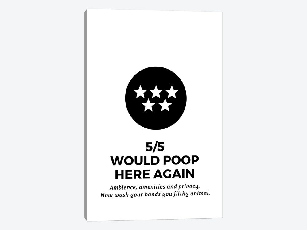 Five Star Bathroom Review And Wash Your Hands by Design Harvest 1-piece Art Print