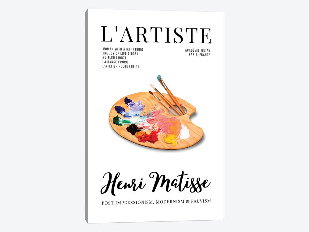 L'Artiste French Art Magazine Cover Design With Matisse And Palette by Design Harvest 1-piece Art Print