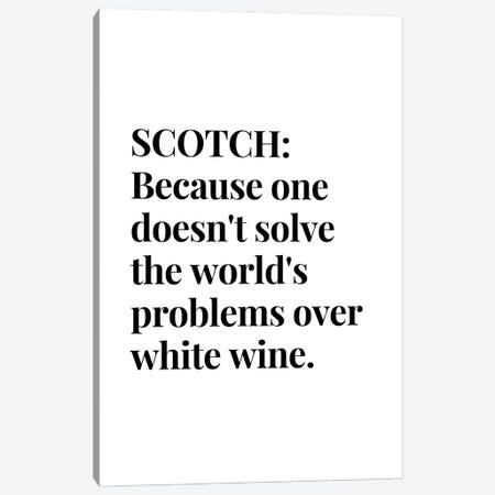 Scotch Whisky And Wine Bar Quote Canvas Print #DHV50} by Design Harvest Art Print