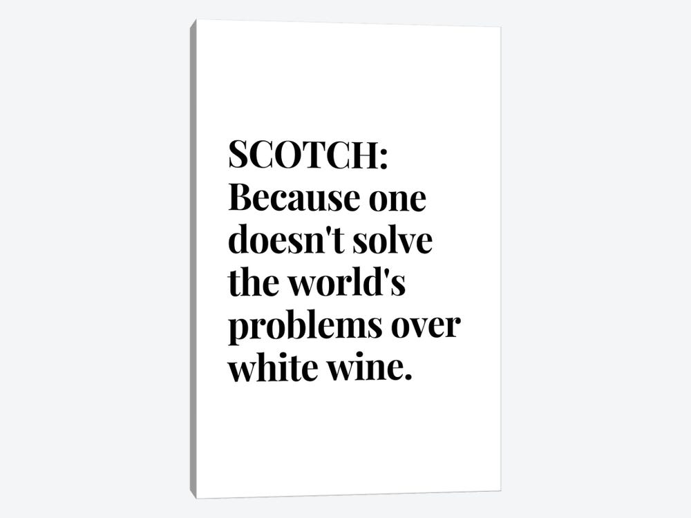 Scotch Whisky And Wine Bar Quote by Design Harvest 1-piece Canvas Wall Art
