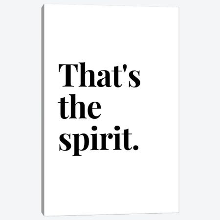 That'S The Spirit Bar And Drinks Quote Canvas Print #DHV52} by Design Harvest Art Print