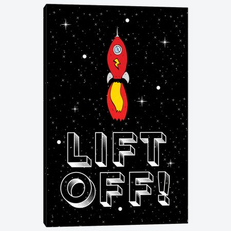 Lift Off! Space Rocket Blast Off Canvas Print #DHV56} by Design Harvest Canvas Wall Art