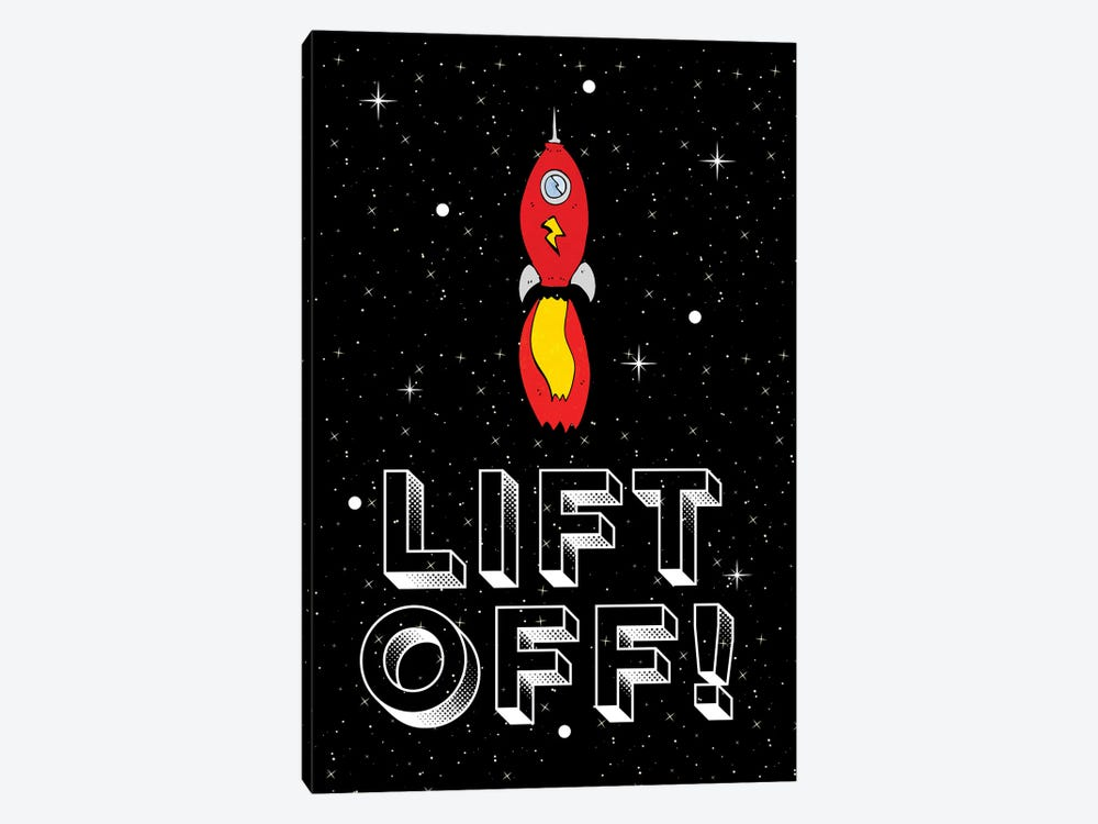 Lift Off! Space Rocket Blast Off by Design Harvest 1-piece Canvas Art