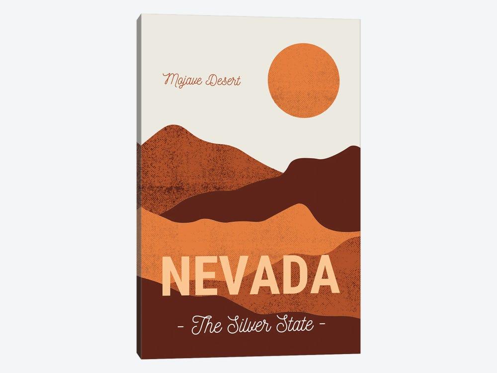 Nevada And Mojave Desert Vintage Travel by Design Harvest 1-piece Canvas Print