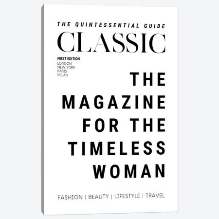 The Classic Woman'S Magazine Cover For The Timeless Woman Canvas Print #DHV65} by Design Harvest Art Print