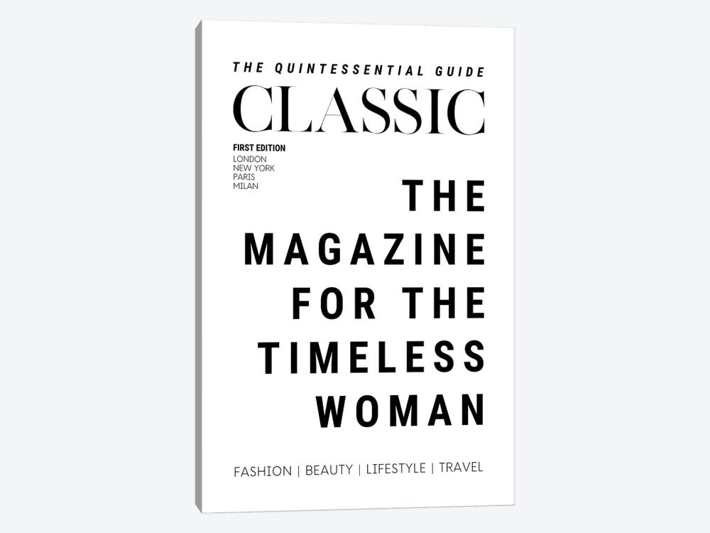 The Classic Woman'S Magazine Cover For The Timeless Woman by Design Harvest 1-piece Canvas Art